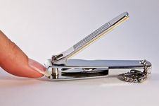 Free Finger And Nail Scissors Stock Photography - 15947252
