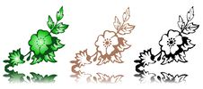 Free Vector Floral Design Elements Royalty Free Stock Photos - 15947258