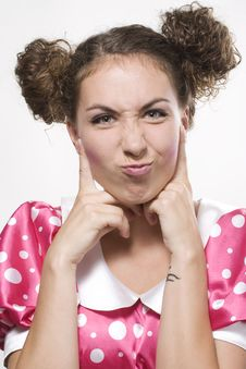 Free Woman Making A Funny Face Royalty Free Stock Image - 15947456