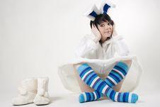 Free Pretty Bunny Woman Stock Photo - 15947700
