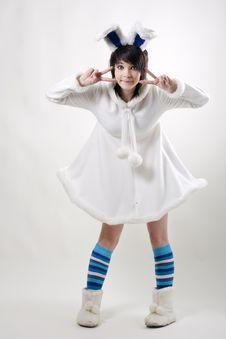 Free Pretty Bunny Woman Stock Image - 15947821