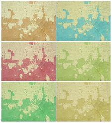 Free Colorful Grunge Wall Set Stock Photo - 15947970