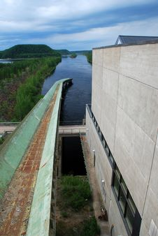 Free The Spillway Of Vanttauskoski Hydroelectric Plant Stock Images - 15948064