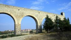 Free Noain S Roman Aqueduct, Navarre, Spain. Stock Photography - 15948242