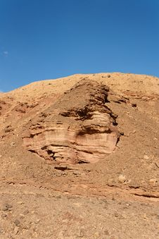 Scenic Weathered Rock In Stone Desert Royalty Free Stock Photo