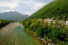 Free Maggia River In Springtime Stock Image - 15948421