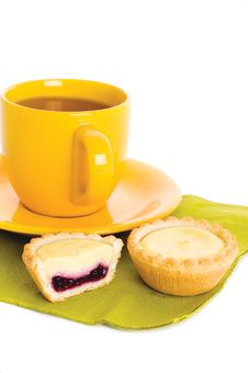 Free Tart And Tea Royalty Free Stock Image - 15948716