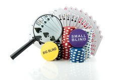 Gambling Chips And Cards Stock Photos