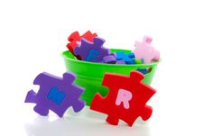 ABC Colorful Puzzle Stock Photography