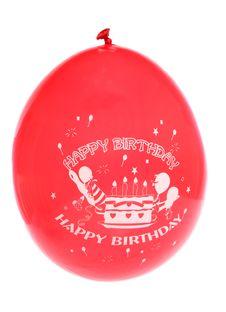 Free Red Happy Birthday Balloon Stock Photo - 15949680