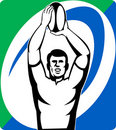 Free Rugby Player Throw Line-out Ball Stock Photos - 15952703