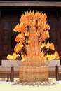 Free Buddhism Flag  On Bamboo Pagoda Royalty Free Stock Photography - 15953567