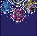 Free Fireworks. Vector Background Royalty Free Stock Image - 15954376