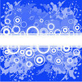 Free Blue Background With White Rings Royalty Free Stock Photos - 15956248
