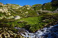 Free Valley With Spring In The Mountains Royalty Free Stock Image - 15957476