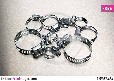 Free Hose Clamp Assortment Stock Images - 15952434