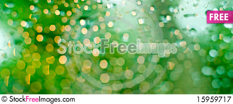 Free Abstract Blur Of Rain Drop Royalty Free Stock Photography - 15959717
