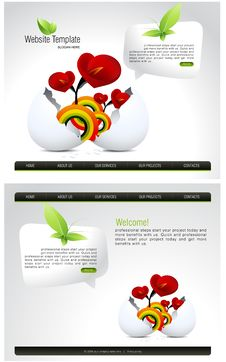 Free Website Template Stock Photography - 15950112