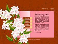 Free Website Template Royalty Free Stock Photography - 15950157