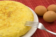Free Potatoes Omelette And Eggs Stock Image - 15950641