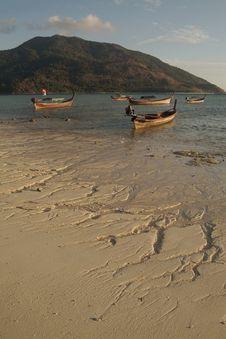 Longtail Near Lepe Island. Royalty Free Stock Image