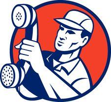 Free Telephone Repairman Phone Royalty Free Stock Photography - 15950957