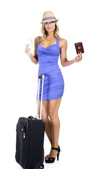 Free Travelling Woman Royalty Free Stock Photography - 15951127