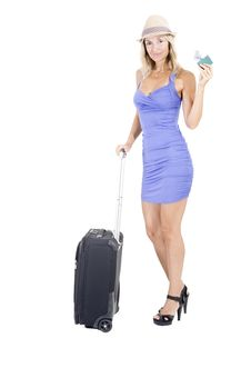 Free Travelling Woman Royalty Free Stock Image - 15951136