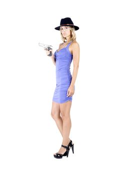 Free Woman And Gun Royalty Free Stock Photography - 15951137