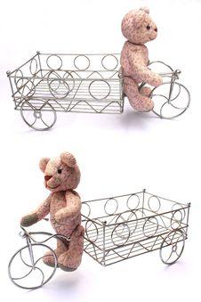 Free Bear Bike Royalty Free Stock Image - 15951436