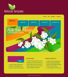 Free Website Template Royalty Free Stock Image - 15951646