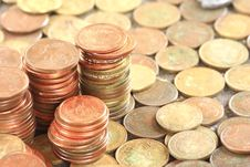 Coins Wallpaper Royalty Free Stock Images