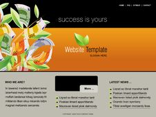 Free Website Template Stock Photography - 15952562
