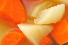 Closeup Of Soup Ingredients Royalty Free Stock Photography