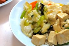 Free Vegetarian Rice And Bean Curd Cuisine Stock Photos - 15953553