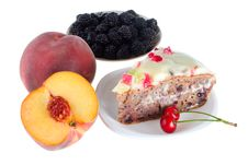 Free Various Fruits And Cake Royalty Free Stock Image - 15953776