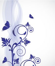 Floral Vector Background Royalty Free Stock Photography