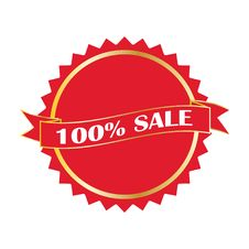 Free Red Sale Rosette Royalty Free Stock Images - 15954059