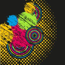 Free Abstract Background With Multicolored Drops Stock Photos - 15954093