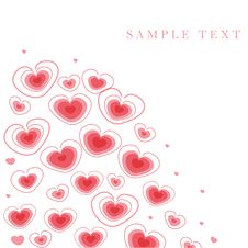 Free Greetings Card With Floral Hearts Stock Photography - 15954162