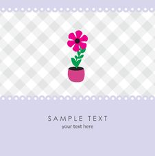 Free Cute Flower. Vector Greeting Card Royalty Free Stock Photo - 15954395