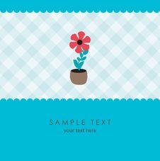 Free Cute Flower. Vector Greeting Card Royalty Free Stock Photos - 15954438
