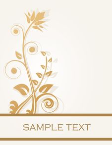 Free Vintage Floral Card Royalty Free Stock Photos - 15954448