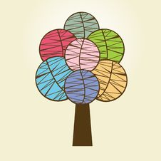 Free Abstract Tree. Vector Illustration. Stock Image - 15954541