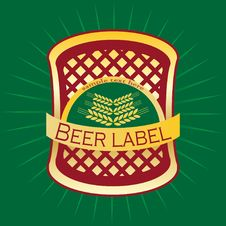 Beer Label Design. Stock Photography