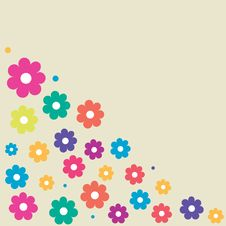 Free Floral Card With Abstract Flowers. Stock Photos - 15955003