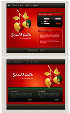 Free Website Template Royalty Free Stock Photos - 15955118