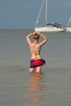 Free Woman In The Sea Stock Photo - 15955970