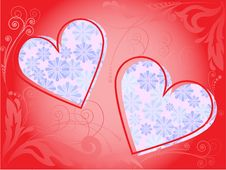 Free Frame Of Two Hearts Royalty Free Stock Images - 15956369