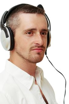 Free Man With Headset Royalty Free Stock Photography - 15956577